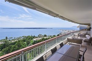 CANNES CALIFORNIE,  APPARTEMENT 5 PIECES VUE MER